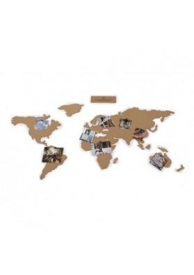 Mapa mundi corcho adhesivo