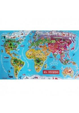 Puzzle magnético mundo