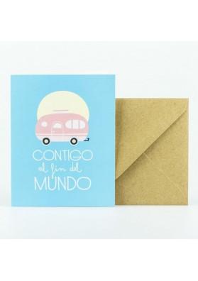 Pack 2 tarjetas felicitaciones amorosas
