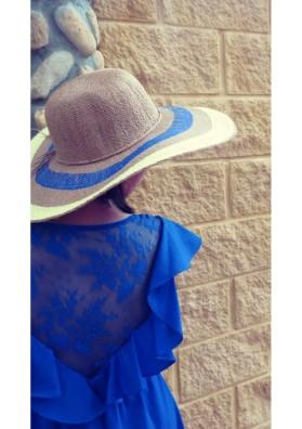 Sombrero multicolor flúor