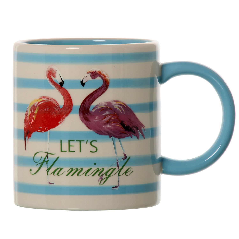 taza y mug flamenco a rayas